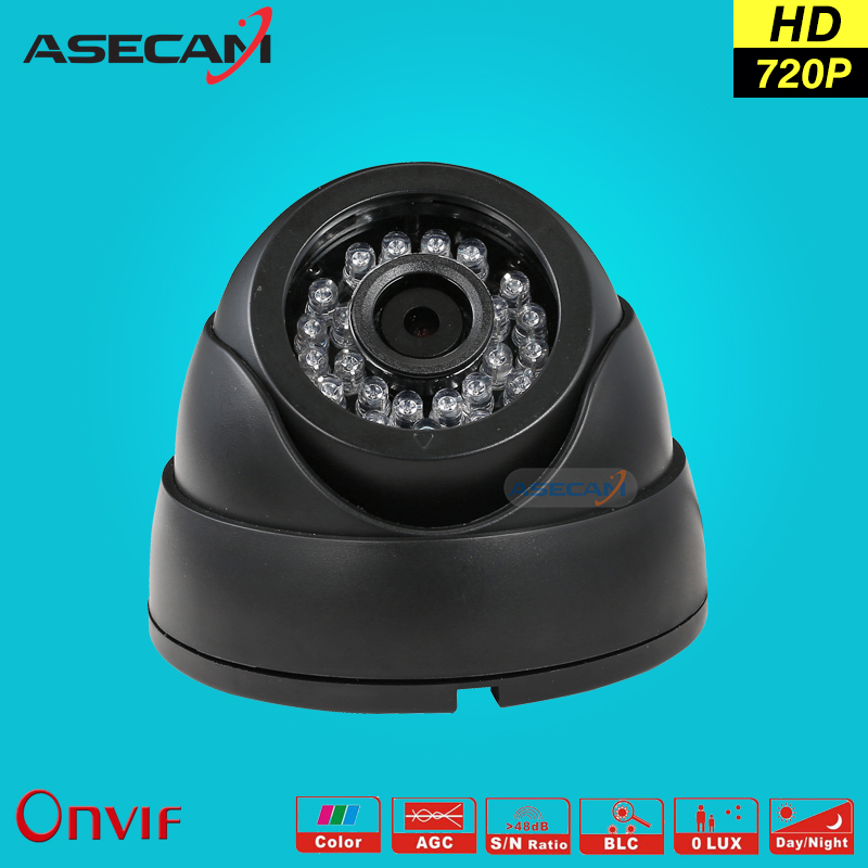 HD 720P IP Camera Onvif Black Indoor Dome WebCam CCTV Infrared Night Vision Security Network Smart home 1MP POE Surveillance poe hd 960p onvif h 264 p2p onvif security monitoring network ip camera infrared night vision outdoor waterproof security
