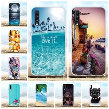For Samsung Galaxy A70 Case Soft TPU Silicone SM-A705F Cover Scenery Pattern Coque