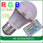 Remote control RGB Free shipping 4w led light bulb E27 / E26 / B22 Basw r50 led bulb light 3 watt led light bulb