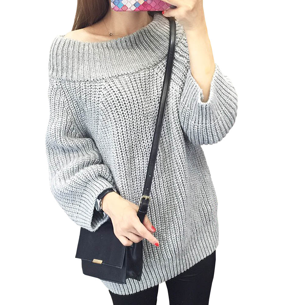 Winter Knitted Sweater Women 2018 Sring Hollow Out Pullover Sweater Sexy Long Sleeve Off Shoulder Sweater Jumpers
