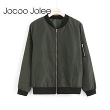 Jocoo Jolee Women Thin Jackets Fashion Basic Bomber