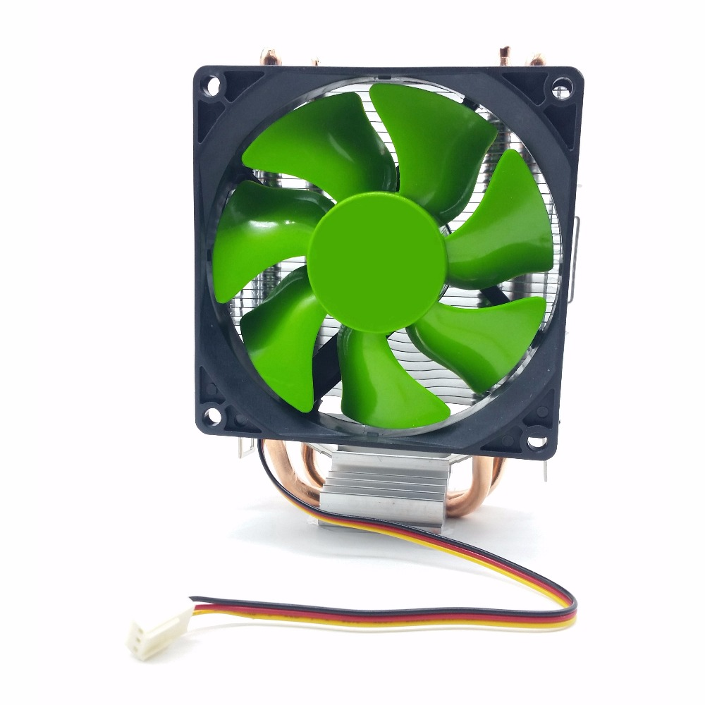 3 Pin Desktop Computer PC 2 heatpipe Universal CPU Cooler computer CPU fan LGA775/LGA1150/1155/1156/LAGA1366,754/939/AM2/AM3 2200rpm cpu quiet fan cooling heatsink cooler for lga775 1155 and am2 3 h029
