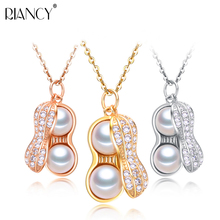 Pearl Necklace 925 sterling silver Pearl Jewelry Real Natural Freshwater Pearl Peanut Pendants Jewelry wedding for women gift mydear pearl jewelry pearl pendants 100
