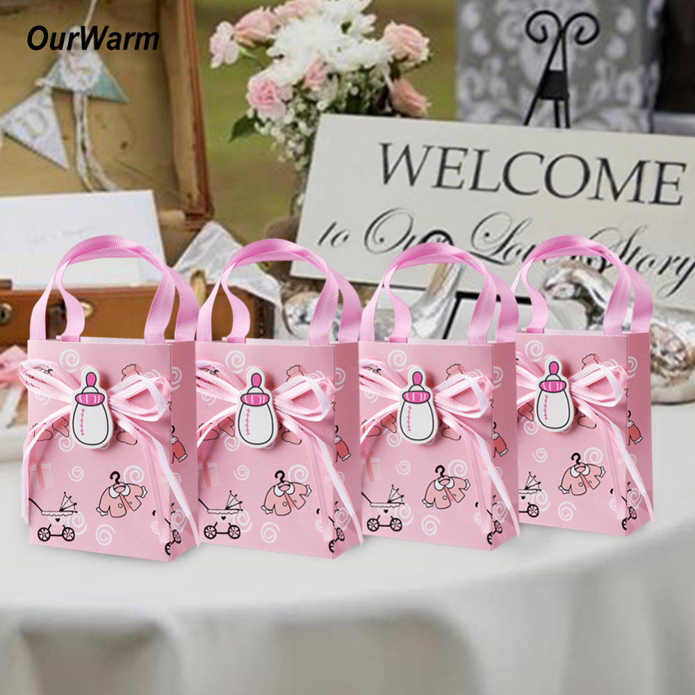 Ourwarm 12pcs Baby Shower Gifts Box Candy Bag Christening Decoration ...