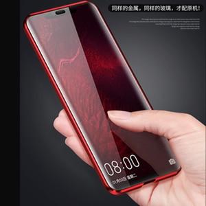 Image 3 - 360 Передний + задний двухсторонний 9 H закаленное стекло чехол для huawei mate 20 Pro Магнитный чехол для huawei mate 20 Pro металлический бампер крышка