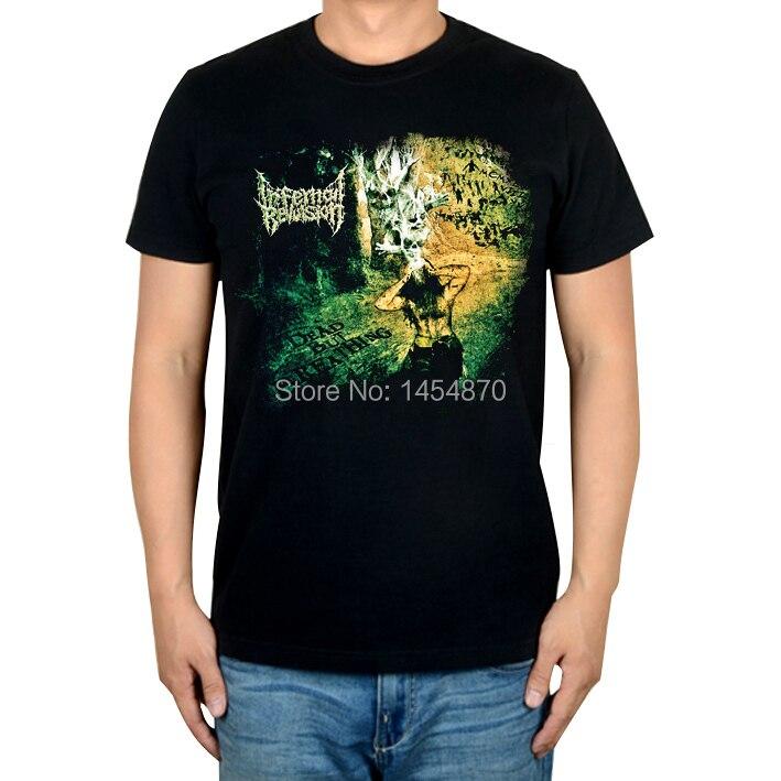 Уличный стиль адская отвращение рок Бренд музыка футболка хлопок панк фитнес металл черный рубашки Хардрок