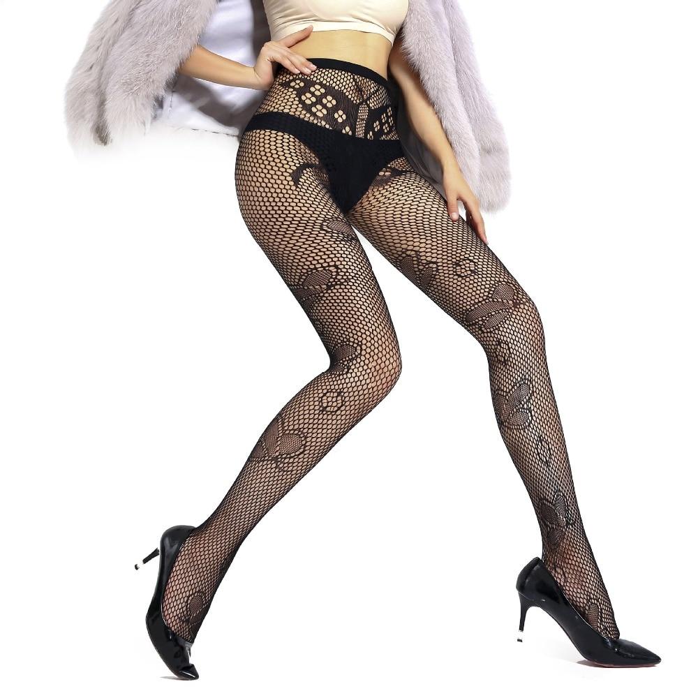 US Women Crystal Rhinestone Fishnet Elastic Stockings Fish Net Tights Pantyhose