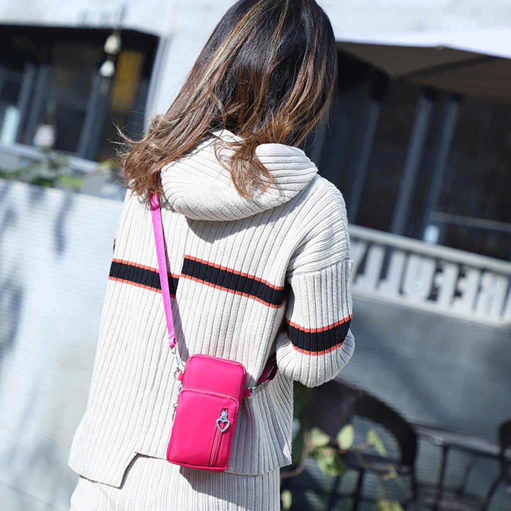 Sacos de bolsas de Senhoras Bonito Bolsas Femininas sacos crossbody Senhoras Nylon Cor Sólida Verticais Bolsa de Ombro Diagonal Saco das mulheres