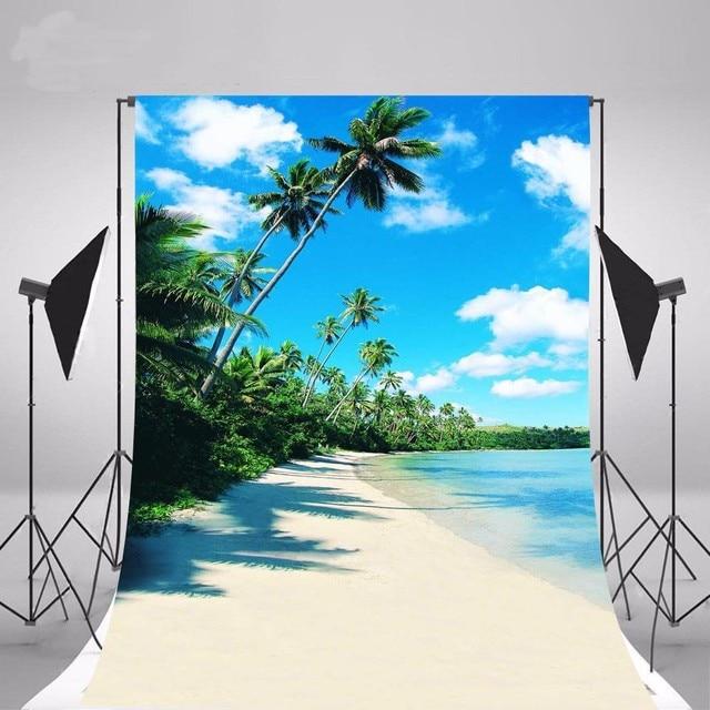 Matrimonio Tema Hawaii : Spiaggia di sabbia del mar scena tema palma hawaii fondali in
