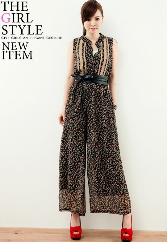 Cheap New 2013 Summer Lady Loose Overall Jumpsuit for women Printed Womens  Wide Leg Jumpsuits Floral Dresses Pants Short Sleeve on Aliexpress.com  87a66712f0a1