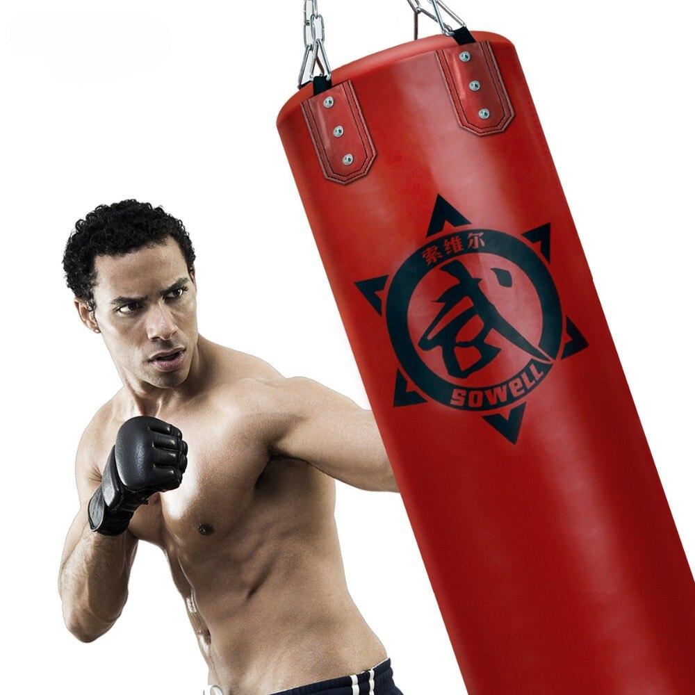 Hommes Poinçonnage Sac Vide Kick Boxing Lourds MMA Formation Punch Mitaines Suspendus Chaîne Support Mural Ancre Corde Muay Thai Martiaux arts