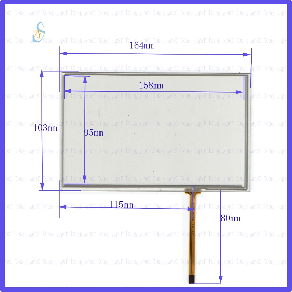 ZhiYuSun  164mm*103mm KDT-5666 7inch Touch Screen glass  resistive USB touch panel  164*103 TOUCH SCREEN this is compatible 98 inch monitor ir touch screen 2 points infrared touch screen panel ir touch screen frame overlay with usb
