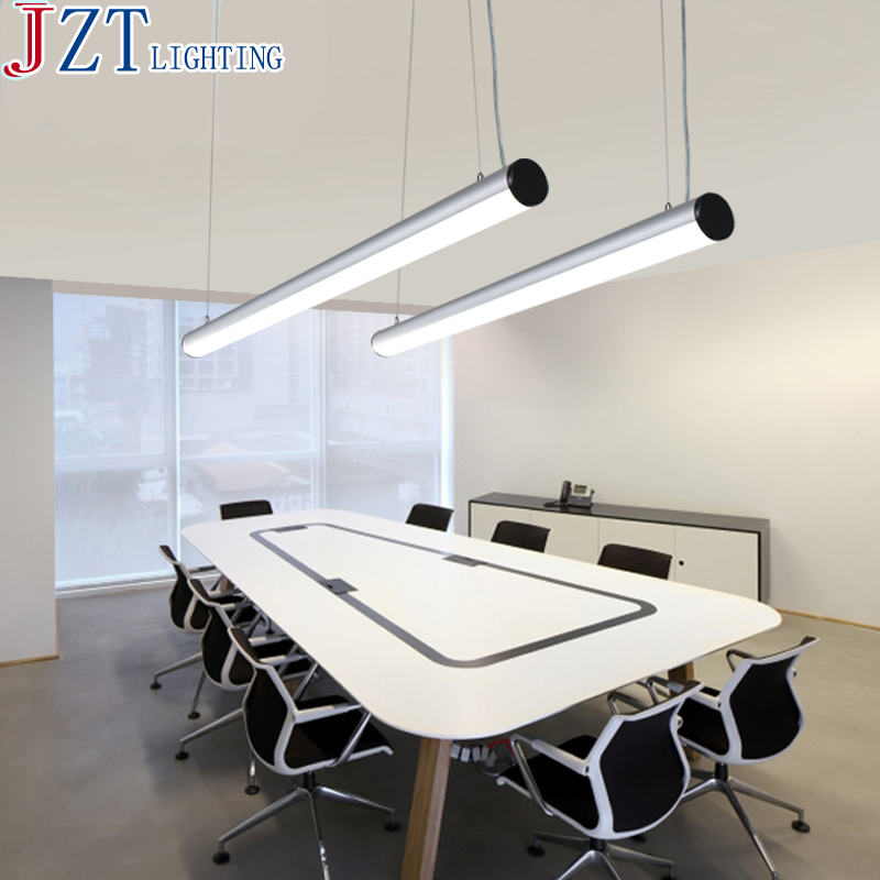 Us 138 92 54 Off Zyy Best Price Creative Personality Office Pendant Lamps L119 Dia7cm Led 2 14w Silver Acrylic Conference Room Restaurant Lamp In