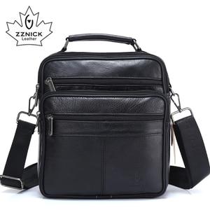 ZZNICK 2018 мужские сумки, сумки для Ipad, из овчины, кожаная мужская сумка-мессенджер, мужская сумка через плечо, сумки для путешествий, 7101, черные