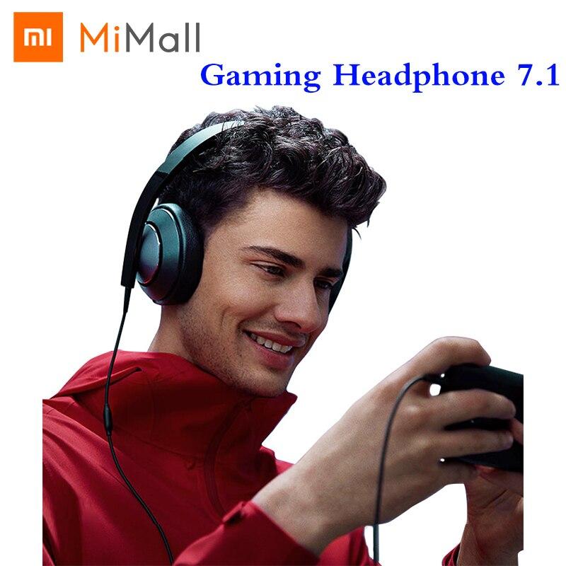 Xiaomi Gaming Headset 7 1 Virtual Surround Sound Grephene LED Headphone With Double Mic Noise Reduction