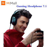 Xiaomi Gaming Headset 7.1 Virtual Surround Sound Grephene LED Headphone With Double Mic Noise Reduction Heavy Bass Stereo for PC