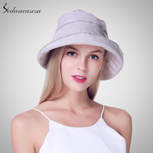 Sedancasesa 2019 Reversible Bucket Hat Unisex Fashion Bob Caps Hip Hop Summer Caps Beach Sun Bucket Hats for women hot WG170011(China)