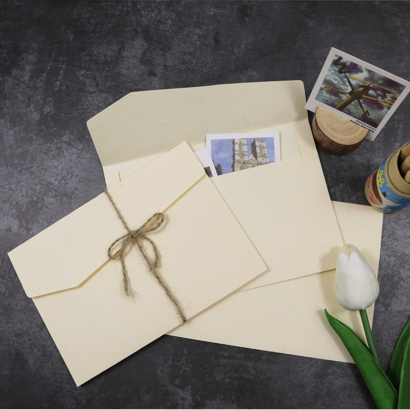 5pcs Envelope Beige Blank Color Gift Envelopes For Wedding Letter Invitation Greeting Cards Paper Envelope Postcard Paper Bags