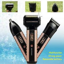 The new multi-function electric hot charging triple trim nose hair shaving razor haircut