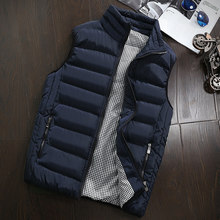 Outdoor Winter Brand Mens cotton Vest Sleeveless Jacket Slim hiking Coats Couple Solid color vest Cotton-Padded Waistcoat S~5XL(China)