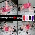 Секс-рабыней bdsm связывание ограничения набор (Рабство стойки + Связали веревкой) секс-игрушки для взрослых для пар, игры наручники для секс инструменты для продажи