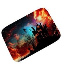 fs5 halloween home non slip door floor mats hall rugs kitchen bathroom carpet decor sep21 - Halloween Rugs