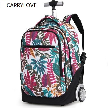 Travel Tale Printing Trolley Suitcase Bag Large Capacity Rolling Luggage Computer Backpack Travel Convenient For Short Trips