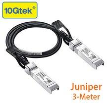 10gtek для можжевельника QFX-SFP-DAC-3M/EX-SFP-10GE-DAC-3M, 10 ГБ/сек. для программирования в производственных условиях+ DAC прямого подключения Медь кабель, двухтактный кабель, пассивные, 3 метра