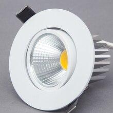 Диммируемый светодиодный светильник COB вниз AC110V 220V 5 W/7 W/9 W Встраиваемый светодиодный точечный светильник люминесцентный внутренний декоративный потолочный светильник
