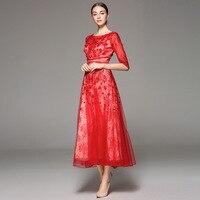 Одежда высшего качества 2018 Новая Осенняя Свадебная вечеринка Для женщин длинные Макси платья леди повторяющийся аппликации вышивка бисеро