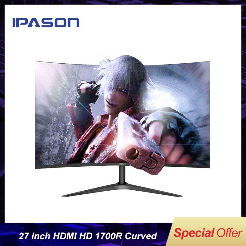 Moniteur de jeu IPASON HD blanc noir 27 pouces 60Hz affichage d'ordinateur pour les ordinateurs de bureau de jeu