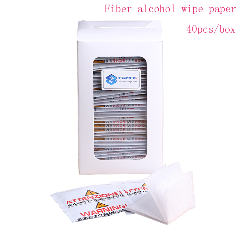 Free Shipping 40PCS/Box IPA FTTH Fiber alcohol wipe paper fiber connector cleaning paper For fiber optical jumper connector image