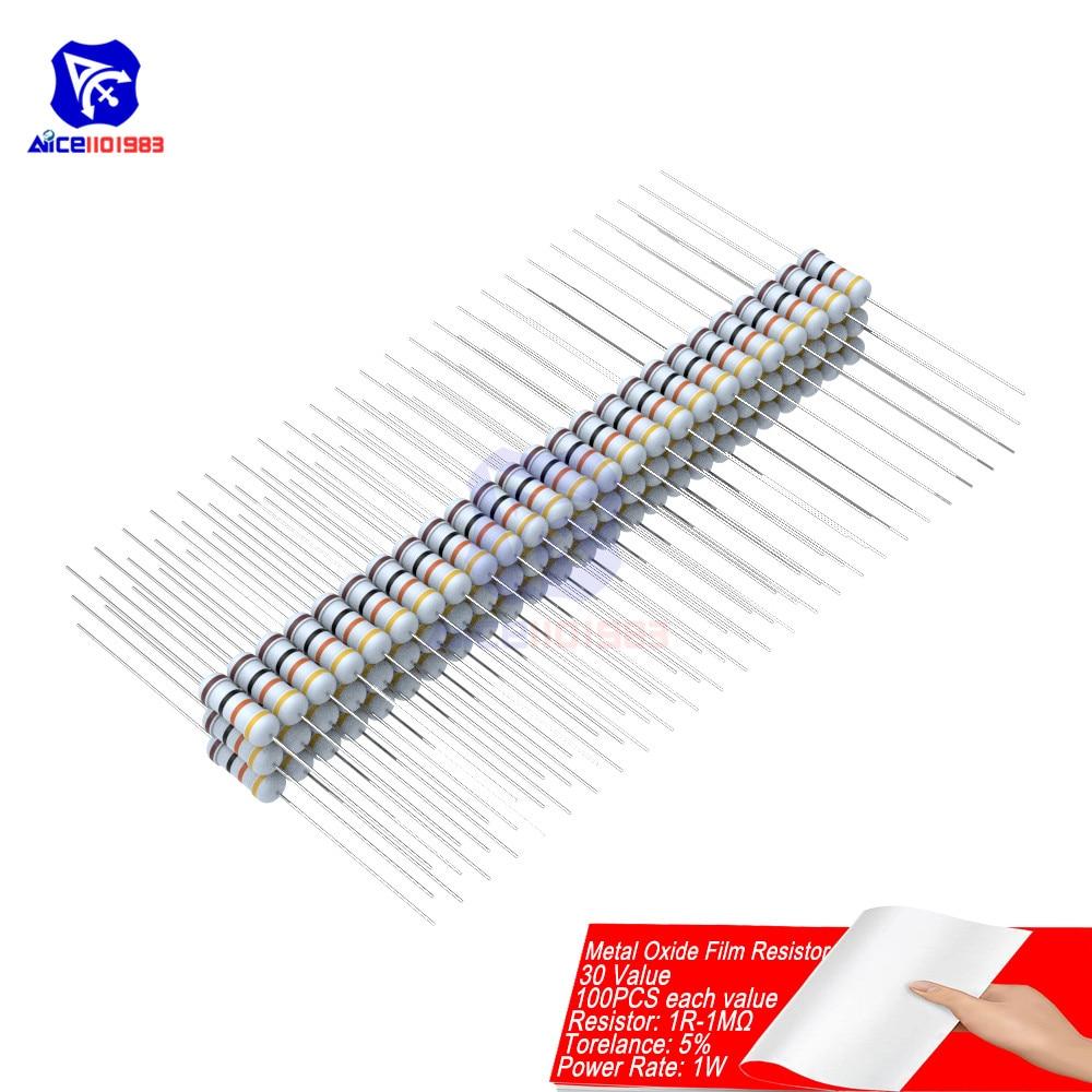 30pcs 3W 3 watt 5/% Metal Oxide Film Resistor 470K Ohm
