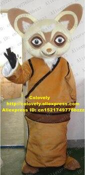 Disfraz de Mascota de Racoon de Shifu marrón inteligente mascota Kung Fu Panda mapache Procyon Lotor con orejas grandes cara feliz No.1199 envío gratis