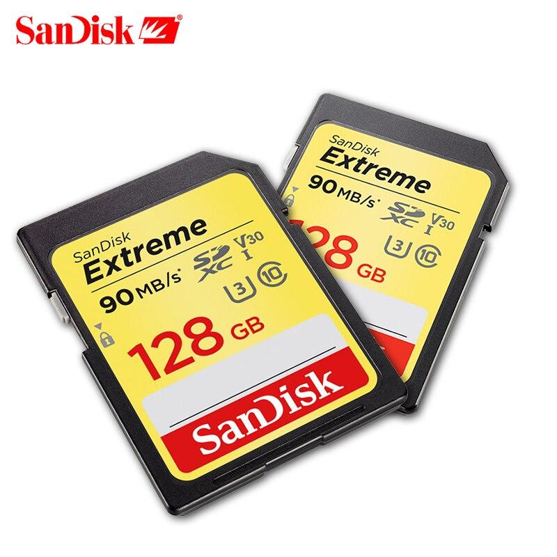 SanDisk Extreme SD card 32 gb SDHC/scheda di memoria SDXC 16 gb carte sd 64 gb cartao de memoria 128 gb U3 Class10 90 mb/s per la Macchina Fotografica Canon