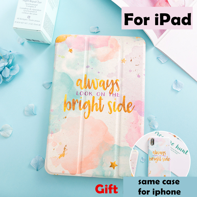 Watercolor Magnet Flip Cover case For iPad Pro 9.7 10.5 12.9 Air Air2 Mini 1 2 3 4 Tablet Case For New ipad 9.7 2017 2018 a1893 simple blue sky flip cover for ipad pro 9 7 10 5 air air2 mini 1 2 3 4 tablet case protective shell for new ipad 9 7 2017 a1822