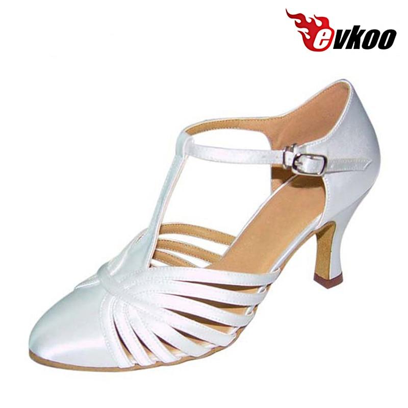 Evkoodance taille US 4-12 Six couleurs pour choix chaussures de danse pour femmes 7 cm talon chaussures de danse latine femme peut Evkoo-026 personnalisé