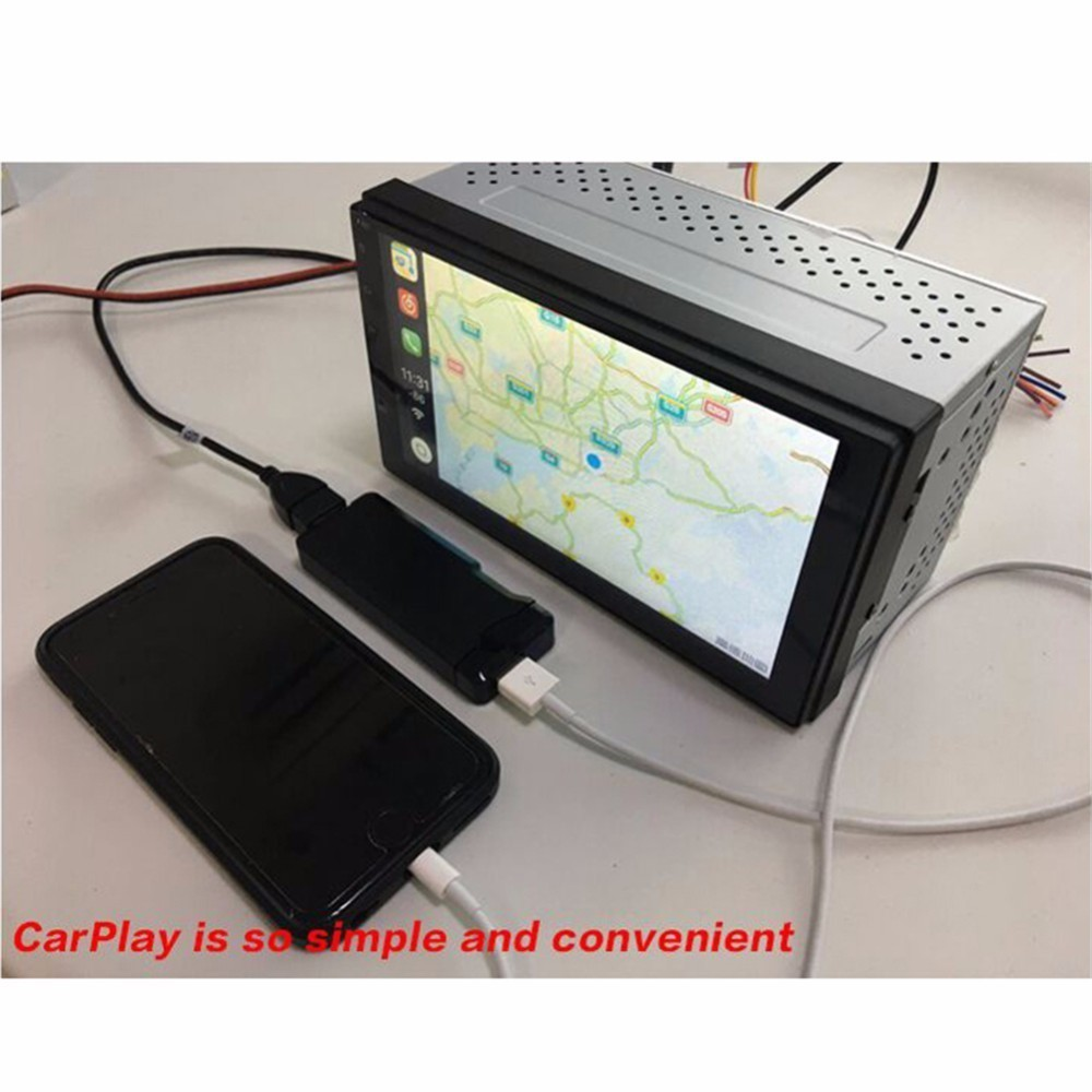 Carplay Car MP5 Player Touch Screen Control for Iphone iSO Mobile Phone USB For Car Android Navigation Automatical Connector