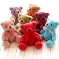 Free shipping Sitting height 15cm creative seven colours Teddy Bear animal Plush Doll soft hold pillow stuffed toy baby gift 2pc