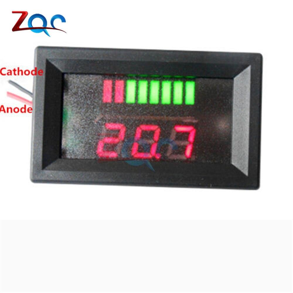 Image 5 - 6 V/12 V/36 V/48 V indicador de nivel de carga de batería de ácido de plomo de coche probador de batería de litio medidor de capacidad de batería LED voltímetroindicator batteryindicator battery capacityindicator led -