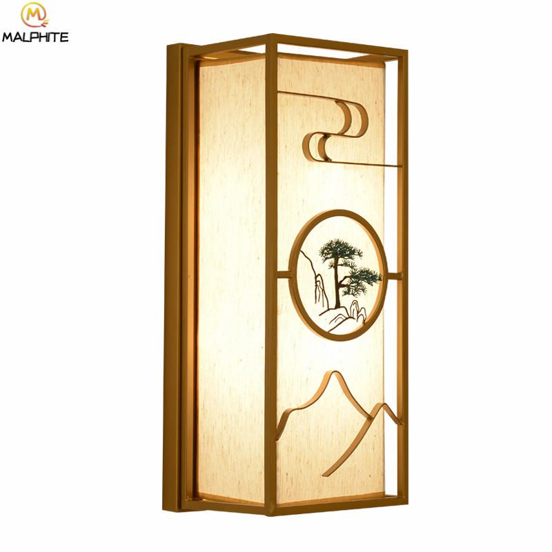 Chinese Retro wall lamp bedroom bedside lamps wall modern simple living room hotel staircase wall light home decor fixturesChinese Retro wall lamp bedroom bedside lamps wall modern simple living room hotel staircase wall light home decor fixtures