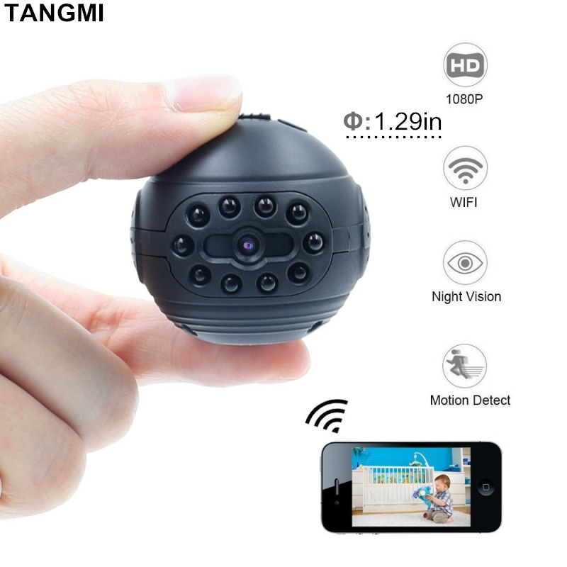 все цены на 2018 New Wifi IP Mini Camera Wireless 1080P HD Micro Action Cam DV DVR Infrared Night Vision Motion Detection Small Camcorder онлайн