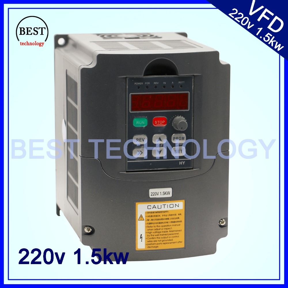CNC Spindle motor speed control 220V 1.5kw VFD Variable Frequency Drive  Inverter  1HP or 3HP Input 3HP Output for cnc driverl vfd110cp43b 21 delta vfd cp2000 vfd inverter frequency converter 11kw 15hp 3ph ac380 480v 600hz fan and water pump