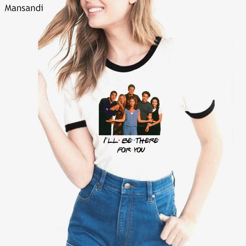 Friends TV show tshirt women I'LL BE THERE FOR YOU letter print tee shirt femme best friends t shirt female tumblr tops tees