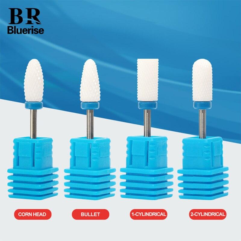 Ceramic Nail Drill Bit Milling Cutter Nail File Polishing Grinding Head 3/32 Professional Pedicure Manicure Machine Accessoires