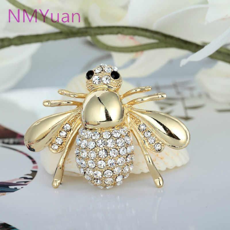 Европейская и американская большая Милая пчела брошь CZ брошь на булавке для воротника кардиган платье женские ювелирные изделия Броши для свадебных букетов