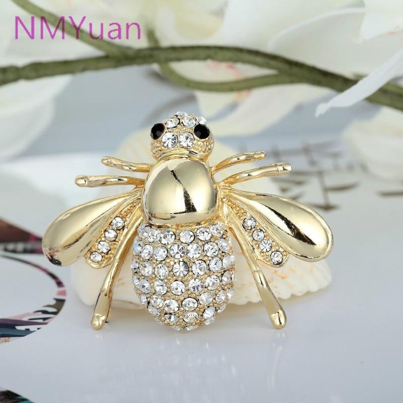 Evropska in ameriška velika luštna čebela broška CZ broška pin ovratnik kardigan obleka ženski nakit broške za poročne šopke