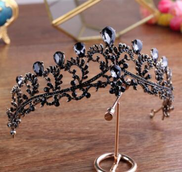 Black Crown Wedding Tiara...