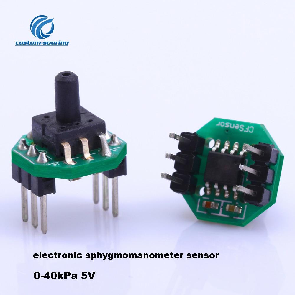 5PC XGZP6847 Gas Pressure Electronic Sphygmomanometer Sensor Transmitter Module 0-40kPa Gas Pressure Sensor5PC XGZP6847 Gas Pressure Electronic Sphygmomanometer Sensor Transmitter Module 0-40kPa Gas Pressure Sensor