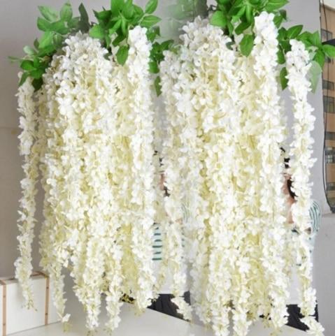 인공 꽃 실크 꽃 등나무 포도 나무 등나무 1.64 미터 웨딩 Centerpieces 장식 꽃다발 갈 랜드 홈 장식